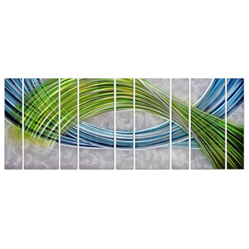 Abstract color warp oversized modern metal wall art for Kitchen cabinets lowes with modern abstract metal wall art sculpture