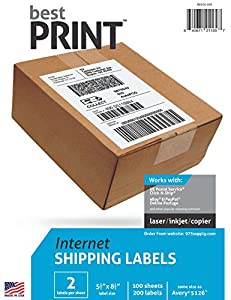 Amazoncom best print 200 half sheet best print for Half page labels