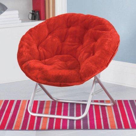 Mainstays Faux-Fur Saucer Chair | Dimensions: 30