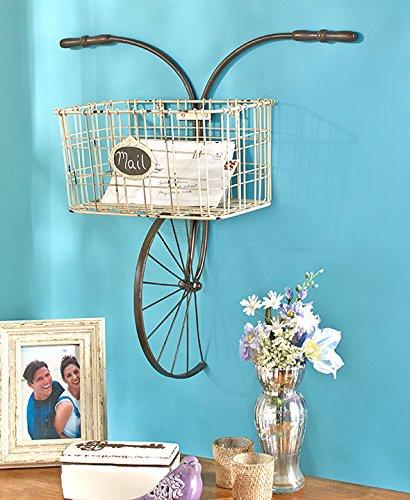 Bicycle Home Decor: Bicycle Design Metal Wire Wall Basket Indoor/Outdoor