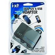 Custom Accessories 10908 Dual Socket Adapter-DUAL 12V & USB ADAPTER