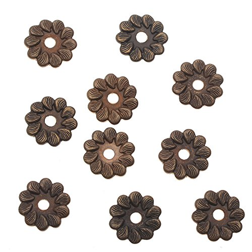 Vintaj Natural Brass Decorative Pinwheel Washer Flowers (10 Pack), 7.5mm (Brass Washers For Jewelry compare prices)