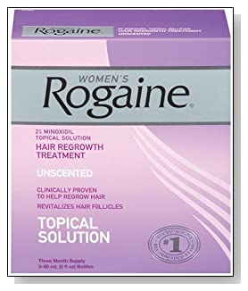 Rogaine for Women Hair Regrowth Treatment, 2 Ounce (Pack of 3)