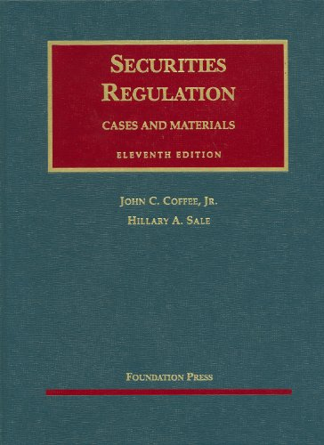 Securities Regulation (University Casebook Series)