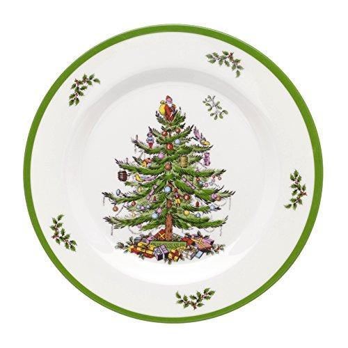 Spode Christmas Tree Melamine Salad Plate, Set of 4 Spode China Christmas Tree
