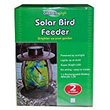 Garden Style Solar Bird Feeder Bright LED Portable Feeding Station