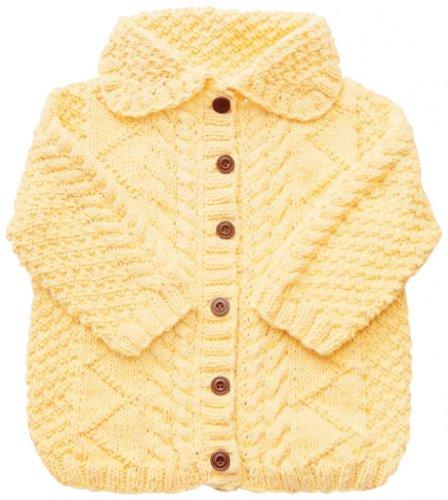 Junebee Baby, Inc. Swedish Elegance Cotton & Bamboo Knit Toddler Cardigan - Yellow - 3T front-111001