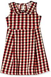 UFO Girls' Dress (AW16-KF-GKT-037_Red_14 - 15 years)