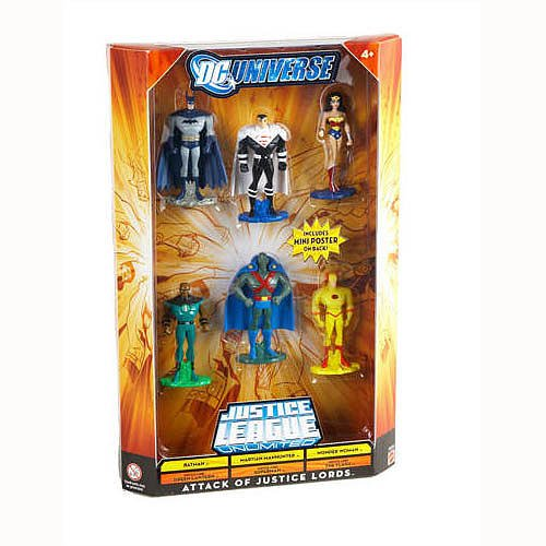 Buy Low Price Mattel DC Universe Justice League Batman, Martian Manhunter, Wonder Woman, Justice Lord Green Lantern, Justice Lord Superman, Justice Lord Flash Figure (B003NZDVY6)