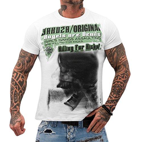 Yakuza Uomo Maglieria / T-shirt Angels Are Devils bianco 2XL