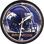 Old Glory Denver Broncos - Helmet Clock