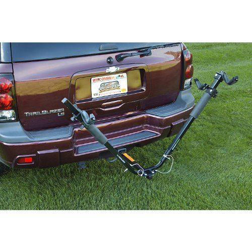 Highland 1375100 Sportwing Hitch Mounted 2 Bike Carrier front-201656