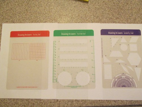 Houghton Mifflin Math Mathematics Drawing to Learn Tools, Grades 5-6 Geometry Fraction Tracing - 1