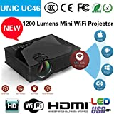 #8: UNIC UC46 Portable 1080P 800x480 Resolution WiFi LED Projector