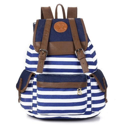 Wowlife Unisex Fashionable Canvas Backpack School Bag Super
