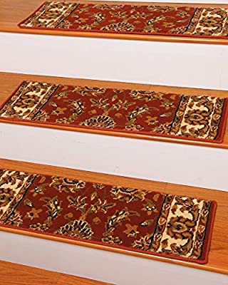 Sydney Carpet Stair Treads 9-inch x 29-inch Use Indoor, Easy to Install w/ Peel & Stick Strips Set of 13 Black Durable, Protects Stairs, Reduces Risk of Slipping