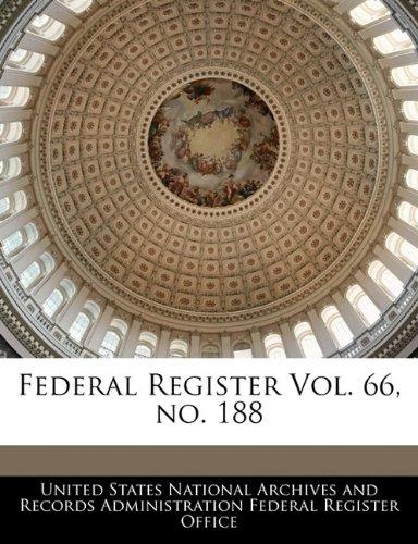 Federal Register Vol. 66, no. 188