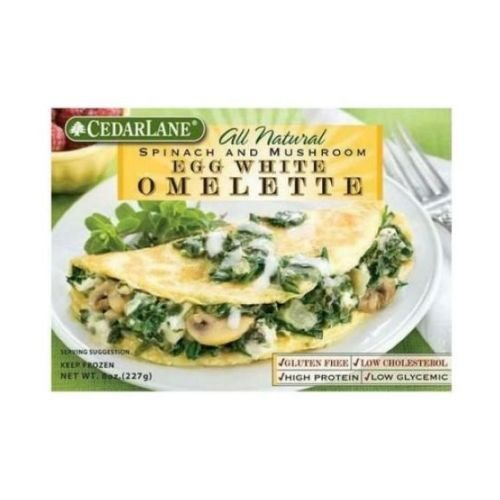 CEDARLANE Omelette Egg White Spinach and Mushroom, 8 Ounce (Pack of 12) (Canned Eggs compare prices)