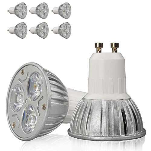 6X High Power 9W 3X3W Gu10 Warm White Led Smd Bright Spot Light Bulb Lamp Globe