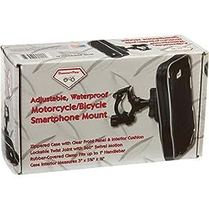 Diamond Plate Adjustable Waterproof Motorcycle/bicycle Smartphone Mount