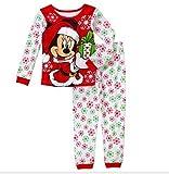 Disney Minnie Mouse Christmas Gift Little Girls' 2 Piece Pajama Set