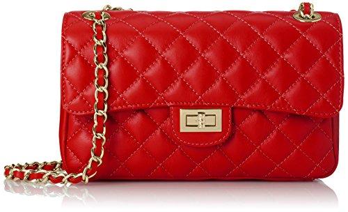 Chicca Borse 6078 Borsa a Spalla, 27 cm, Rosso