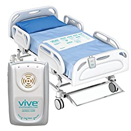 Bed Alarm Sensor Pad by Vive - Includes Alarm & Pressure Sensor Pad - Best Long Term Monitor For Elderly, Seniors, or Bedridden - Medical Fall Alert System - 1 Year Warranty