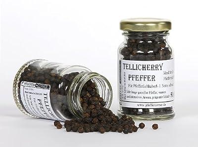 Tellicherry Pfeffer, ganz, 50g im Gläschen (von Pfeffercorner) von Pfeffercorner bei Gewürze Shop