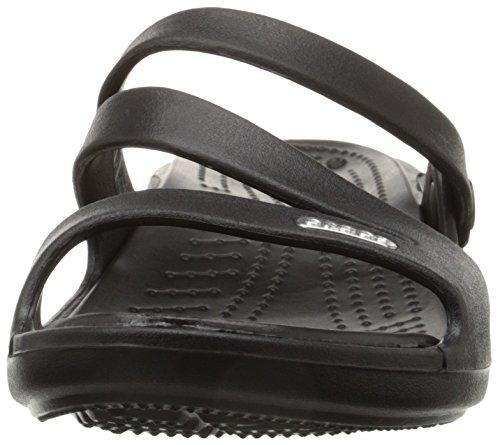 Crocs Women's Patricia Mini Wedge,Black/Black,7 M
