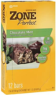 Zoneperfect All Natural Nutrition Bar Chocolate Mint 176-ounce Bars In 12-count Boxes Pack Of 2 by Zone Perfect