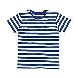 Mantis - Mens Retro Streifen T-Shirt (L),Classic Navy/White