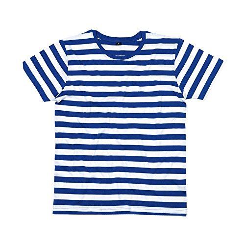 Mantis-Mens-Retro-Streifen-T-Shirt-LClassic-NavyWhite
