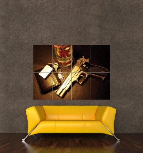 RUSSIAN MAFIA VODKA PISTOL GIANT WALL ART PRINT POSTER PICTURE KB656 (Mafia Pictures compare prices)