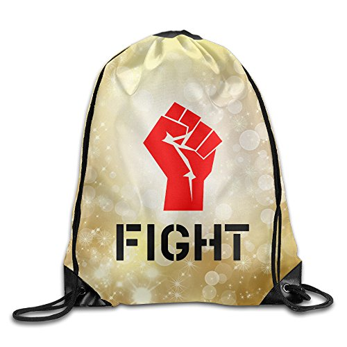 SAXON13 Unisex Geek Fight Fist Drawstring Travel Bag