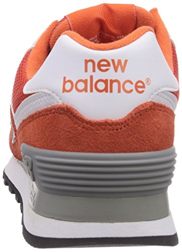 888546369627 - New Balance Men's ML574 Picnic Pack Collection Classic Running Shoe, Orange/Silver, 7 D US carousel main 1