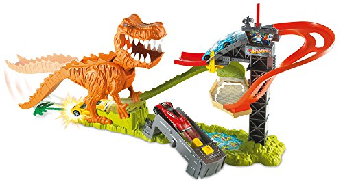 Hot Wheels T-Rex Takedown Playset (Hot Dog Cannon compare prices)
