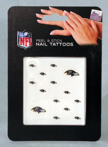NFL Baltimore Ravens Nail Tattoos