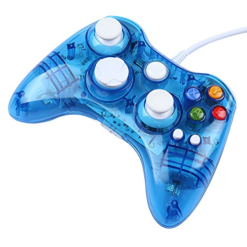 Gadget Zone (Us Seller) Usb Wired Gamepad Controller Led Lighting Joystick Joypad For Xbox 360 Pc Windows Xp Vista Win7/8, Blue