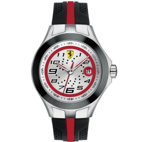 Ferrari 830021 - Reloj analógico de cuarzo para hombre, correa de silicona color negro