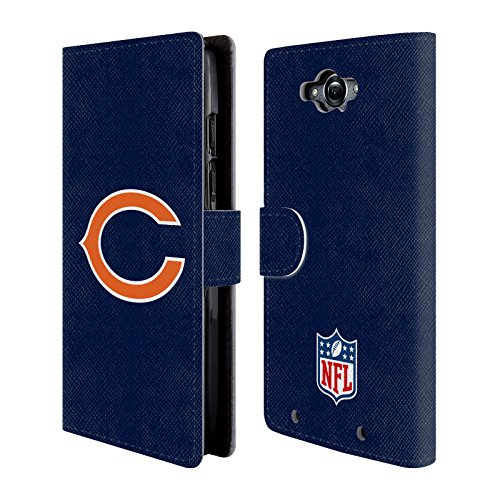 Official NFL Plain Chicago Bears Logo Leather Book Wallet Case Cover For Motorola DROID Turbo (Chicago Bears Tablet Case compare prices)