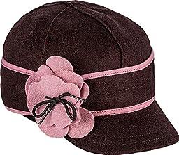 Stormy Kromer Girl\'s Petal Pusher Cap,Brown,6.625