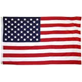 Online Stores Printed Polyester US Flag with Grommets, 3 by 5-Feet