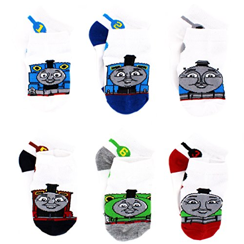 Thomas Train Infant Toddler 6 pack Socks (4-6 (Shoe: 7-10), Thomas James Percy) (Thomas Train Shoes compare prices)