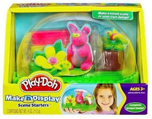 Play-Doh Make-Display El Bosque - Juego de plastilina, color morado, verde, amarillo y rojo