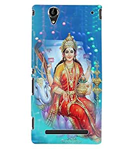 ColourCraft Maa Laxmi Design Back Case Cover for SONY XPERIA T2 ULTRA DUAL D5322