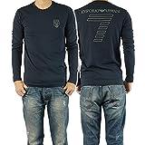 (エンポリオアルマーニ)EMPORIO ARMANI EA7 メンズロングTシャツ 273703 4A206 ネイビー [並行輸入商品]