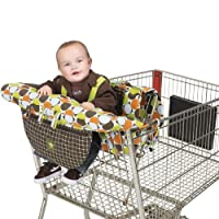 Jeep Shopping Cart and High Chair Cover, Baby Chair Cover, Baby Cart Cover, Cotton, Machine Washable, Brown, Pattern