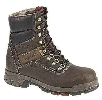 Wolverine Men's Cabor Waterproof 8-Inch Work Boot,Dark Brown,7 M US