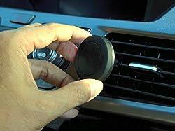 CyberTech Universal Magnetic Air-vent Car Mount Holder for iPhone 4/5/5C/5S/6/6 Plus, iPad Mini, Samsung Galaxy S Series, Note, HTC, Motorola, Google Nexus, Nokia, Blackerry, and Droid Smart Phones / Mini Tablets / GPS