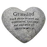 Graveside Memorial Ornaments - Heart Plaque Grandad